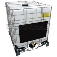 275 Gallon Tote tank with metal cage and pallet