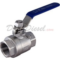 "1"" NPT 2-Piece 304 Stainless Steel Ball Valve WOG1000"
