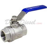 "3/4"" NPT 2-Piece 304 Stainless Steel Ball Valve WOG200"