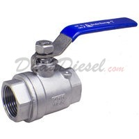 "1"" NPT 2-Piece 304 Stainless Steel Ball Valve WOG200"