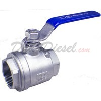 "1-1/2"" NPT 2-Piece 304 Stainless Steel Ball Valve WOG200"