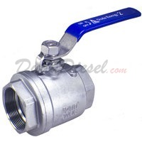 "2"" NPT 2-Piece 304 Stainless Steel Ball Valve WOG200"