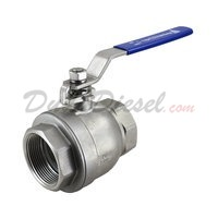 "2PC Light Ball Valve WOG1000 Type III 2-1/2"" NPT"
