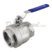 "2PC Light Ball Valve WOG1000 Type III 3"" NPT"