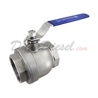 "2PC Light Ball Valve WOG1000 Type III 4"" NPT"