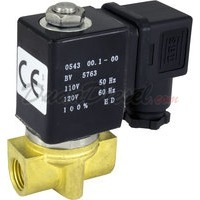 "2-way Solenoid Valve normally open 1/4"" Ports"