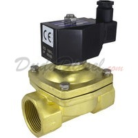 "1-1/4"" brass solenoid valve 2-way normally closed"