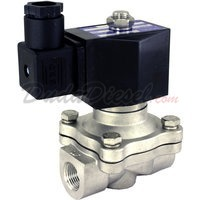 2-way stainless steel viton seal solenoid valve 3/8""