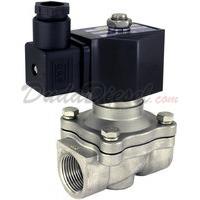 2-way stainless steel viton seal solenoid valve 3/4""
