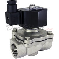 2-way stainless steel viton seal solenoid valve 1""