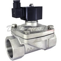 2-way stainless steel viton seal solenoid valve 2""