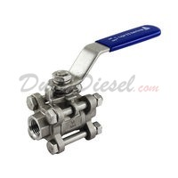 "3PC Ball Valve WOG1000 Type II 1/4"" NPT"