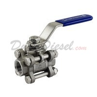 "3PC Ball Valve WOG1000 Type II 3/8"" NPT"