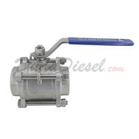 "3PC Ball Valve WOG1000 Type II 2-1/2"" NPT"