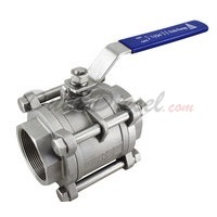"3PC Ball Valve WOG1000 Type II 3"" NPT"