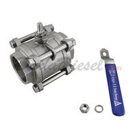 "3PC Ball Valve WOG1000 Type II 3"" NPT Components"