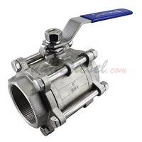 "3PC Ball Valve WOG1000 Type II 4"" NPT"
