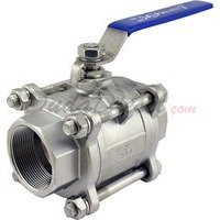 "2""1/2"" NPT 3-Piece 304 Stainless Steel Ball Valve WOG200"