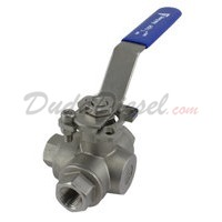 "3-Way Ball Valve HMP WOG1000 L-Type 3/8"" NPT"