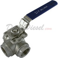 "1"" NPT 3-Way 304 Stainless Steel Ball Valve WOG1000"