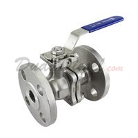 "150 lb 2PC Flange Ball Valve 3/4"" NPT"