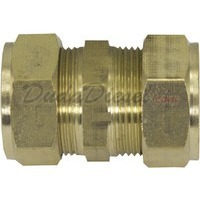 "3/4"" Brass Compression Coupling Fitting"