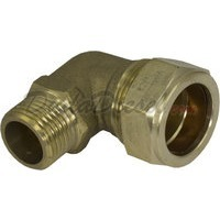 "G-thread Brass Elbow 3/4"" Compression x 1/2"" Male Fitting"