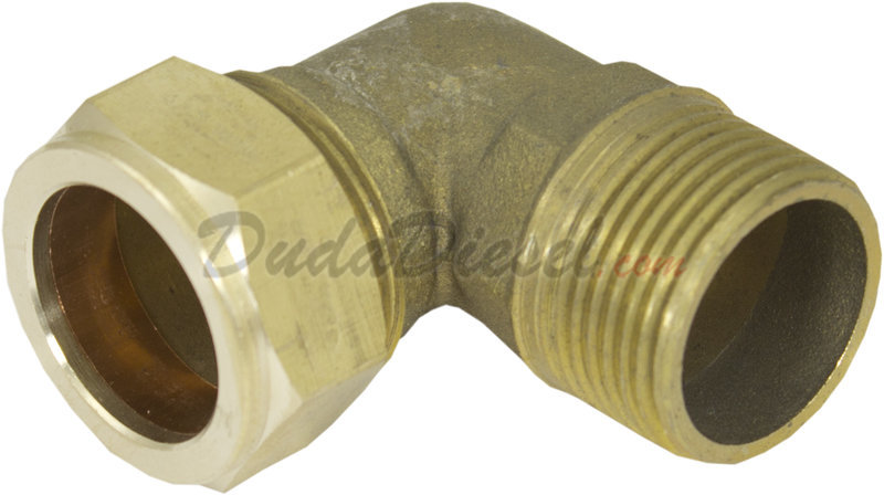 Brass Elbow Compression Adapter Brass Elbcomp075xm075