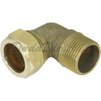 "G-thread Brass Elbow 3/4"" Compression x 3/4"" Male Fitting"