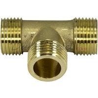 "G-thread 1/2"" Brass Male Tee Fitting"