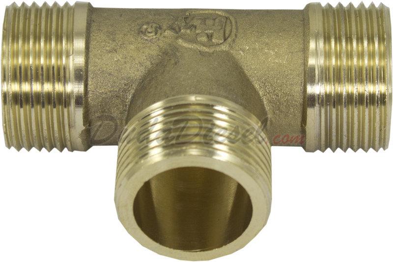 Brass male tee mtee dudadiesel biodiesel supplies