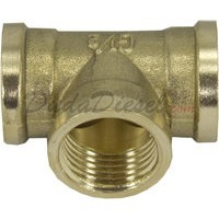 "G-thread 1/2"" Brass Tee Fitting"
