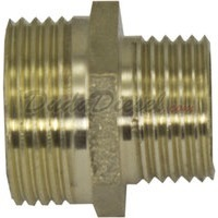 "G-thread Brass Reducing Nipple 3/4"" Male x 1/2"" Male"