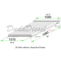 Duda Solar Slope Roof Frame drawing