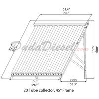 20 Tube 45° Flat Roof / Ground Solar Collector Stand