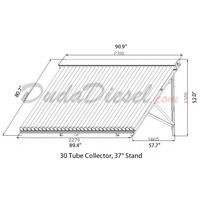 25 Tube 37° Flat Roof / Ground Solar Collector Stand