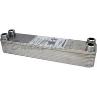 "B3-23A 20 plate heat exchanger stainless steel copper brazed 3/4"" Male NPT"