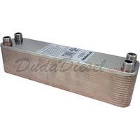 "B3-23A 30 plate heat exchanger stainless steel copper brazed 1/2"" Male NPT"