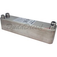 "B3-23A 30 plate heat exchanger stainless steel copper brazed 3/4"" Male x 1/2"" Male NPT"