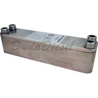 "B3-23A 30 plate heat exchanger stainless steel copper brazed 3/4"" Male NPT"