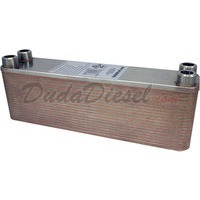 "B3-23A 40 plate heat exchanger stainless steel copper brazed 3/4"" Male NPT"
