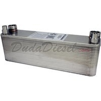 "B3-23A 40 plate heat exchanger stainless steel copper brazed 3/4"" Female x 1/2"" Copper Sweat"