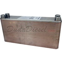 "B3-23A 60 plate heat exchanger stainless steel copper brazed 3/4"" Male NPT"