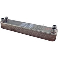 "B3-52A 20 plate stainless steel heat exchanger 1"" male NPT"