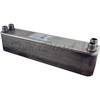"B3-52A 40 plate stainless steel heat exchanger 1"" male NPT"
