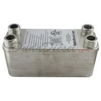 "B4-12A (Nickel) 30 Plate Heat Exchanger 3/4"" Male NPT"
