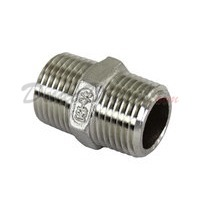 "ISO 4144 Cast Hex Nipple 3/8"" NPT"