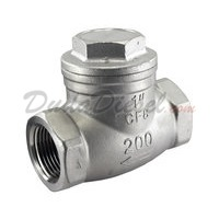 "WOG200 SUS304 Swing Check Valve 1"" NPT Female Ports"