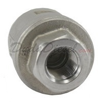 "1/4"" Vertical Check Valve SUS304 Front View"