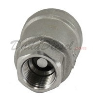 "3/8"" Vertical Check Valve SUS304 Front View"